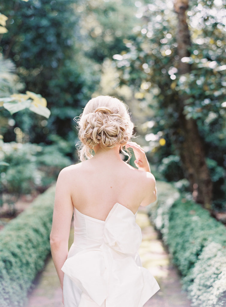 Tousled up-do for wedding