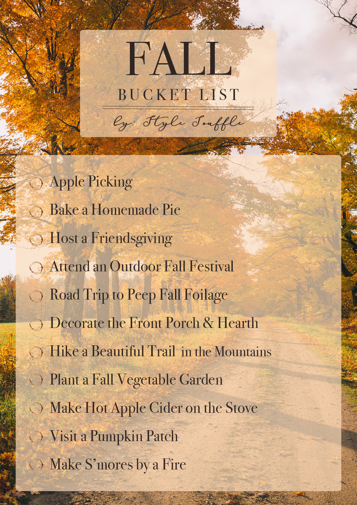 Fall Bucket List 2018